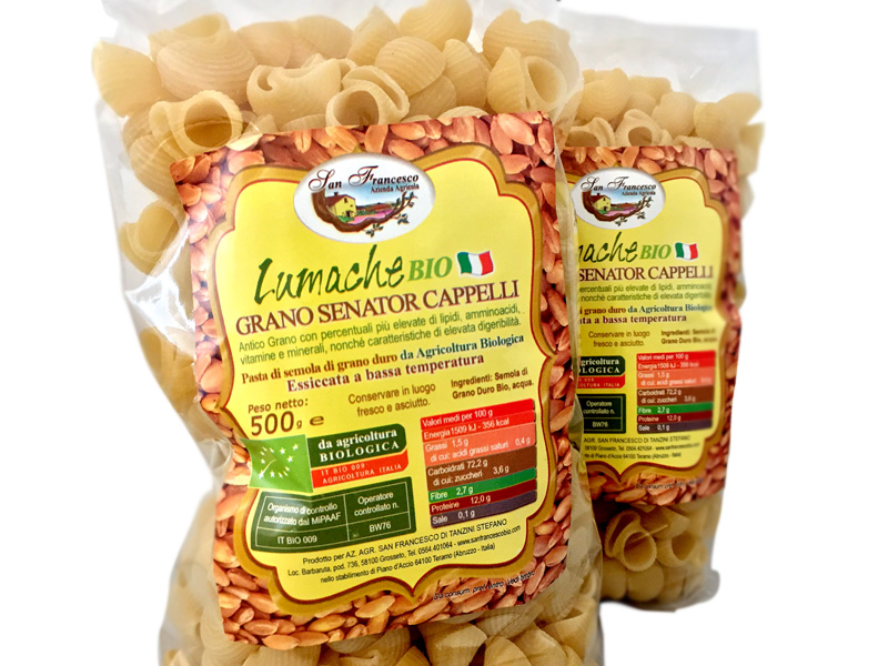 vendita prodotti biologici lumache