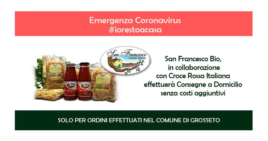 Alimenti Biologici | San Francesco BIO | Emergenza Coronavirus Consegna a Domicilio Gratuita