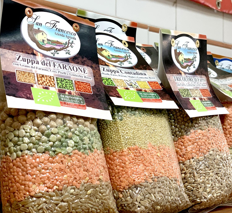Vendita PRODOTTI BIOLOGICI online Azienda Agricola Biologica San Francesco, Zuppe di Cereali e Legumi