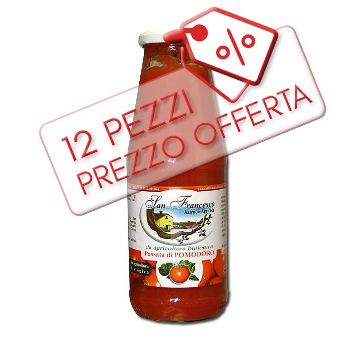Passata di pomodoro Bio Offerta 12pz