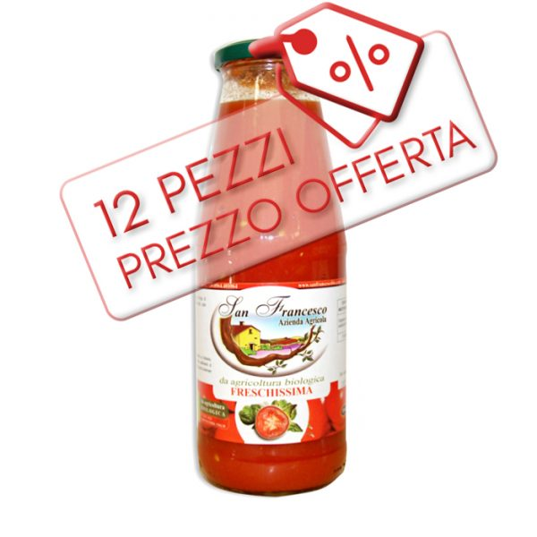 Offerta Salsa di Pomodoro BIO - Freschissima bio 12 pz