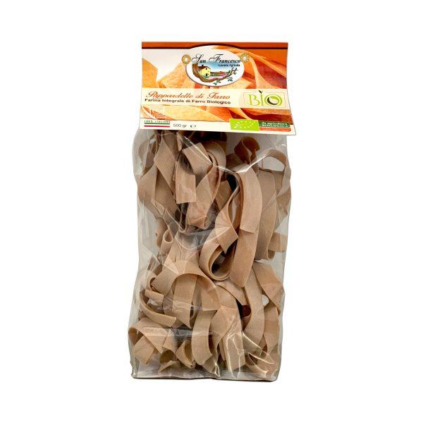 Pappardelle Integrali di Farro Biologico in vendita online nello shop dell'Azienda San Francesco Bio di Maremma Toscana