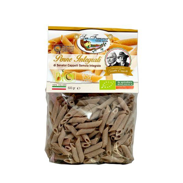 Penne Integrali Senator Cappelli, Pasta di Grani Antichi macinati a pietra, trafilati in bronzo, coltivati in azienda