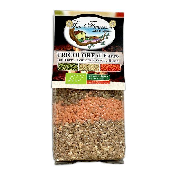 Zuppa di FarroBIO Tricolore Confezione da 500 gr - Agricoltura Biologica Azienda San Francesco di Maremma Toscana