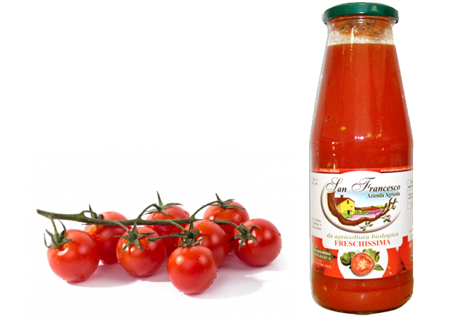 pomodori bio e salsa san francesco